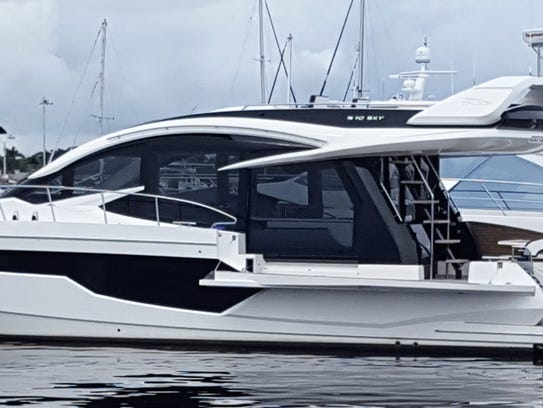 The Galeon 520 Skydeck.
