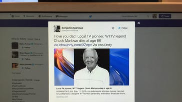 IU basketball fans and others took to Twitter to remember Chuck Marlowe Thursday. His son Benjamin Marlowe's tweet is pictured.