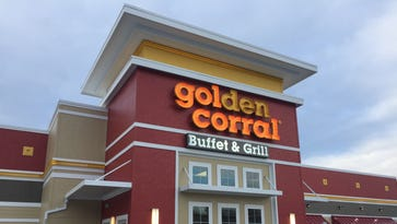 """Golden Corral in the Town of Poughkeepsie, shown on Tuesday morning, has closed """"until further notice,"""" according to signs posted at the entrance."""