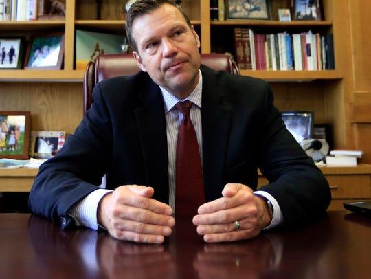 Kansas Secretary of State Kris Kobach, vice chair of