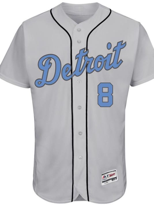 41132335005 Check out the Detroit Tigers' baby blue Father's day jersey, cap