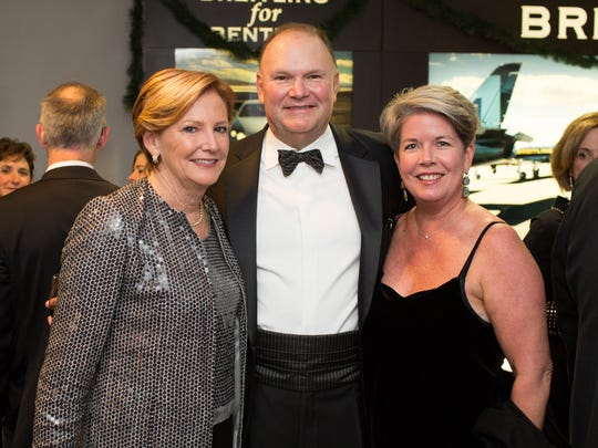 Ellen and Michael Kullman, left, with former First Lady Carla Markell at The Grand Gala pre-party at A.R. Morris.