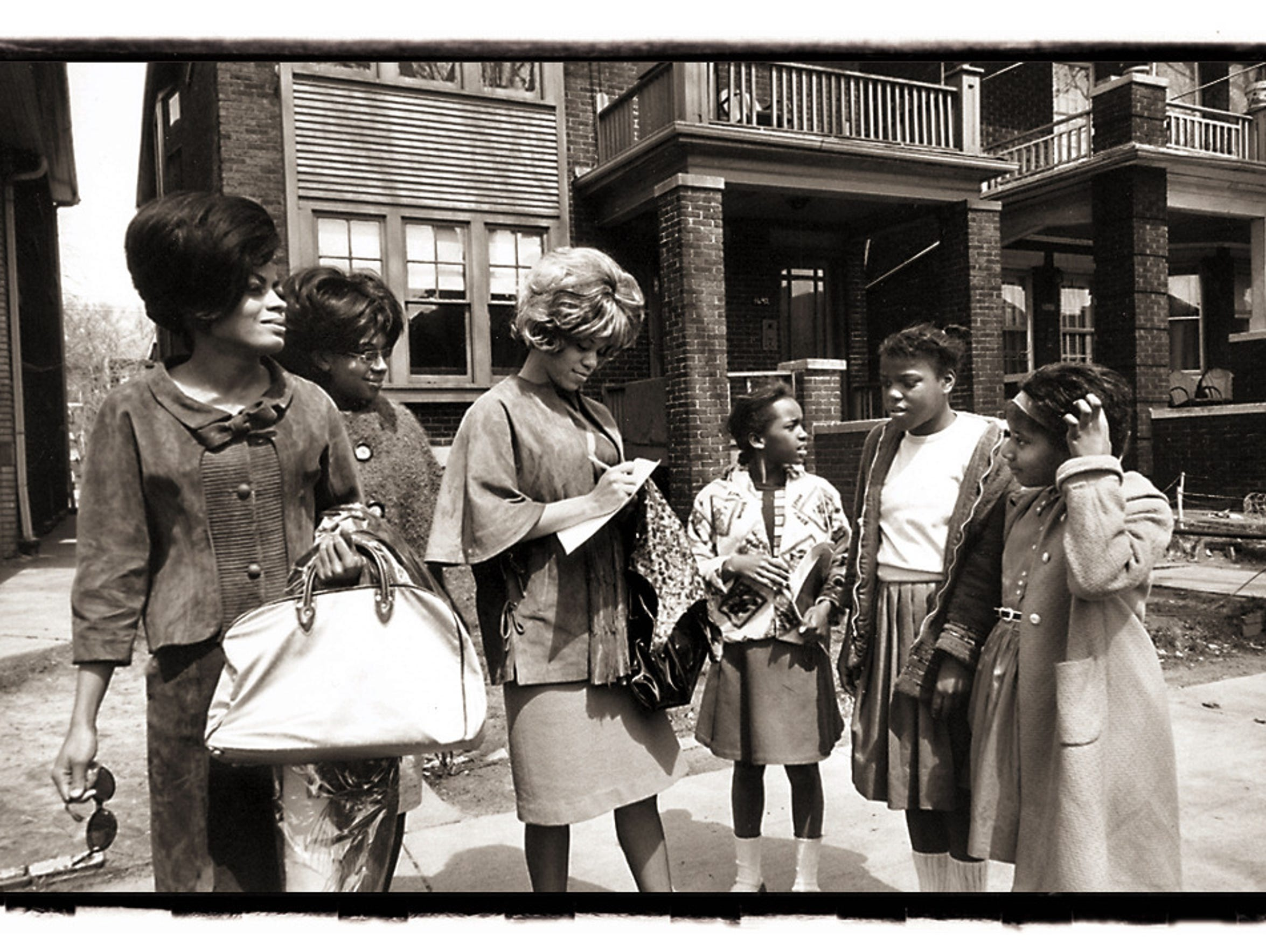 The Supremes outside the Hitsville complex on West