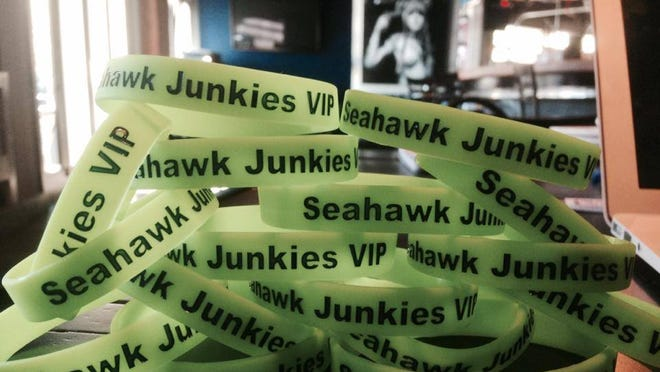 Seattle fans can show their team pride with these bracelets from American Junkie's fan group, the Seahawk Junkies.