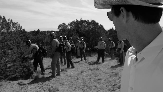 """Granite Mountain"" director Joseph Kosinski at the movie's Hotshot Boot Camp outside of Santa Fe, New Mexico, where the cast is in training, working with real-life former Granite Mountain Hotshot wildland firefighters to prepare for filming."
