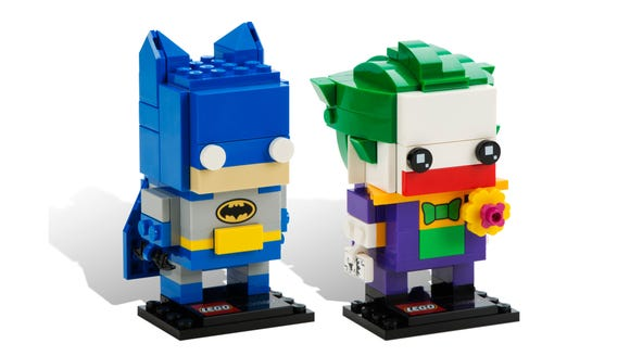 Batman and The Joker LEGO BrickHeadz.