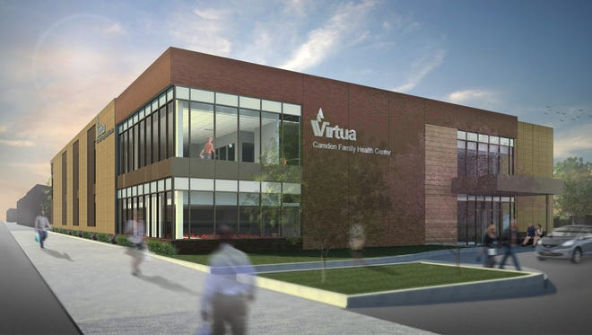 Virtua plans to build a $22 million family health center on Mount Ephraim Avenue in Camden next spring. The site, shown here in an artist's conceptual drawing, will offer primary and specialty care services, including dental and behavioral health care.