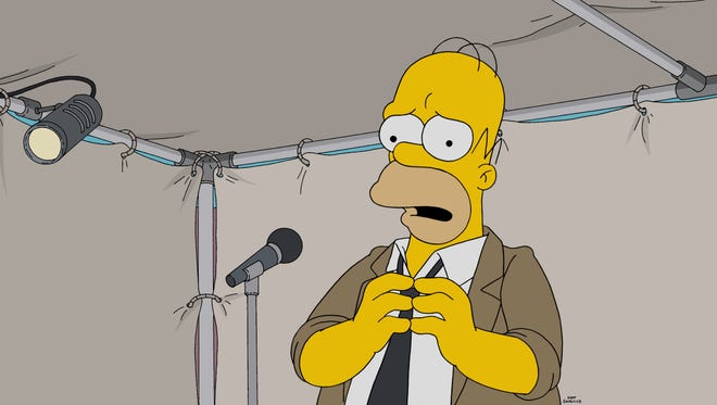Homer Simpson ads rap to his music-industry resume in the Jan. 15 episode of Fox's 'The Simpsons.'