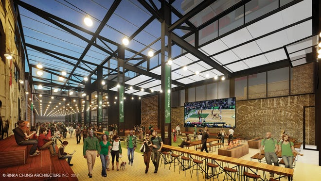 The Milwaukee Bucks released new renderings of the beer garden that will be constructed just east of the new arena.