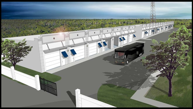 The Hideout: Elite Motor Storage is a new storage facility underway on U.S. 41, four miles east of Collier Boulevard.