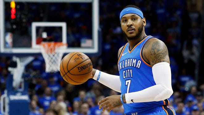 Carmelo Anthony has played his last game for the Oklahoma City Thunder.
