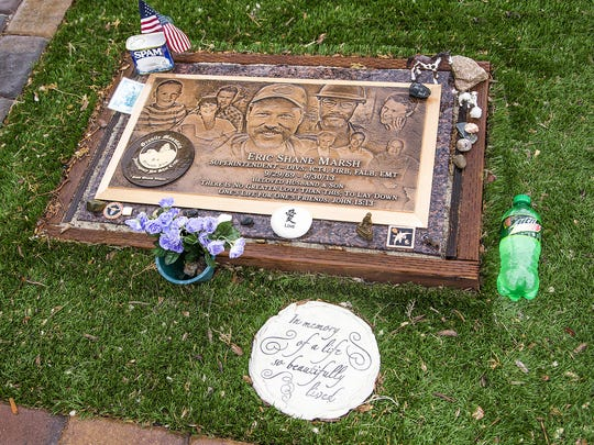 Eric Marsh's headstone at the Arizona Pioneers' Home Cemetery in Prescott.