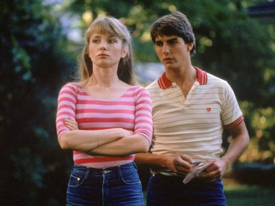 "Tom Cruise and Rebecca De Mornay in ""Risky Business"" (1983)."