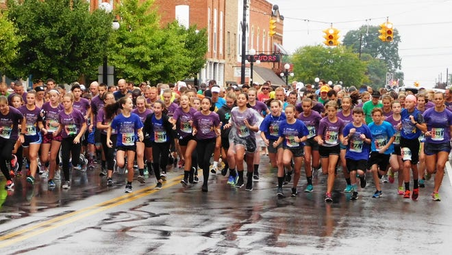 Runners began the Alexa Brown Memorial 5K on Saturday just after a hard rain. The first runner completed the race in just under 16 minutes. Rain, however, was the theme for the day as other events were hindered or washed out that day. The two other days of the Clyde Fair went on as planned.