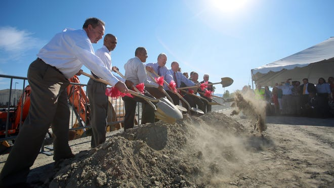 Riverside County officials, members of the Riverside County Sheriff's Department and officials from the City of Indio broke ground on the East County Detention Center on Thursday in Indio.