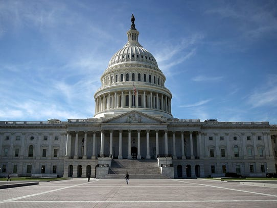 The US Capitol is shown October 11, 2016 in Washington,