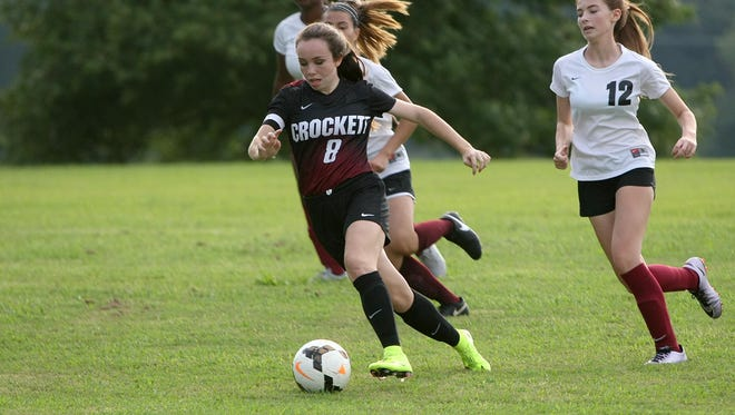 Crockett County's Jodi Butler (8) has taken on a leadership role on this year's team.