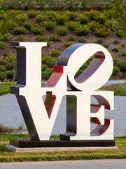 """LOVE"" (1966-'99), by artist Robert Indiana, part of"
