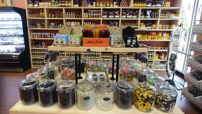 On top of all types of jerky, the Beef Jerky Outlet at the Asheville Outlets also sells hot sauce, candies and insects such as crickets.