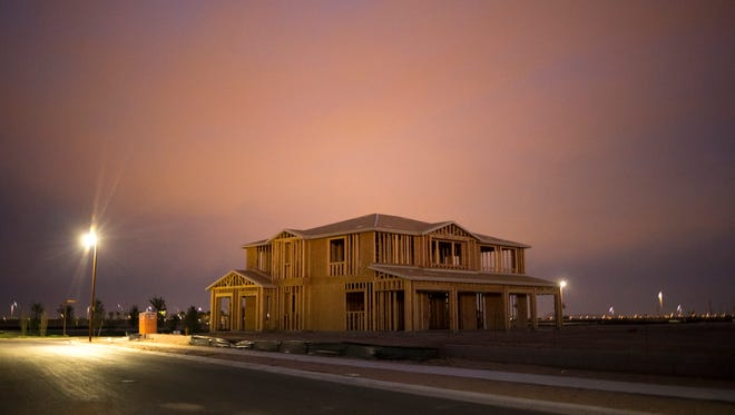 Home construction in Mesa.