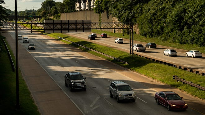 Traffic moves along  I-440 in Nashville, Tenn., Tuesday, June 27, 2017.