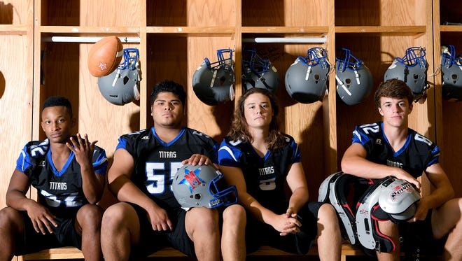McDowell returning seniors starters from left: DeAndre Collins, Ricky Amador Aguirre, Ben Ballew, and Seth Phillips.
