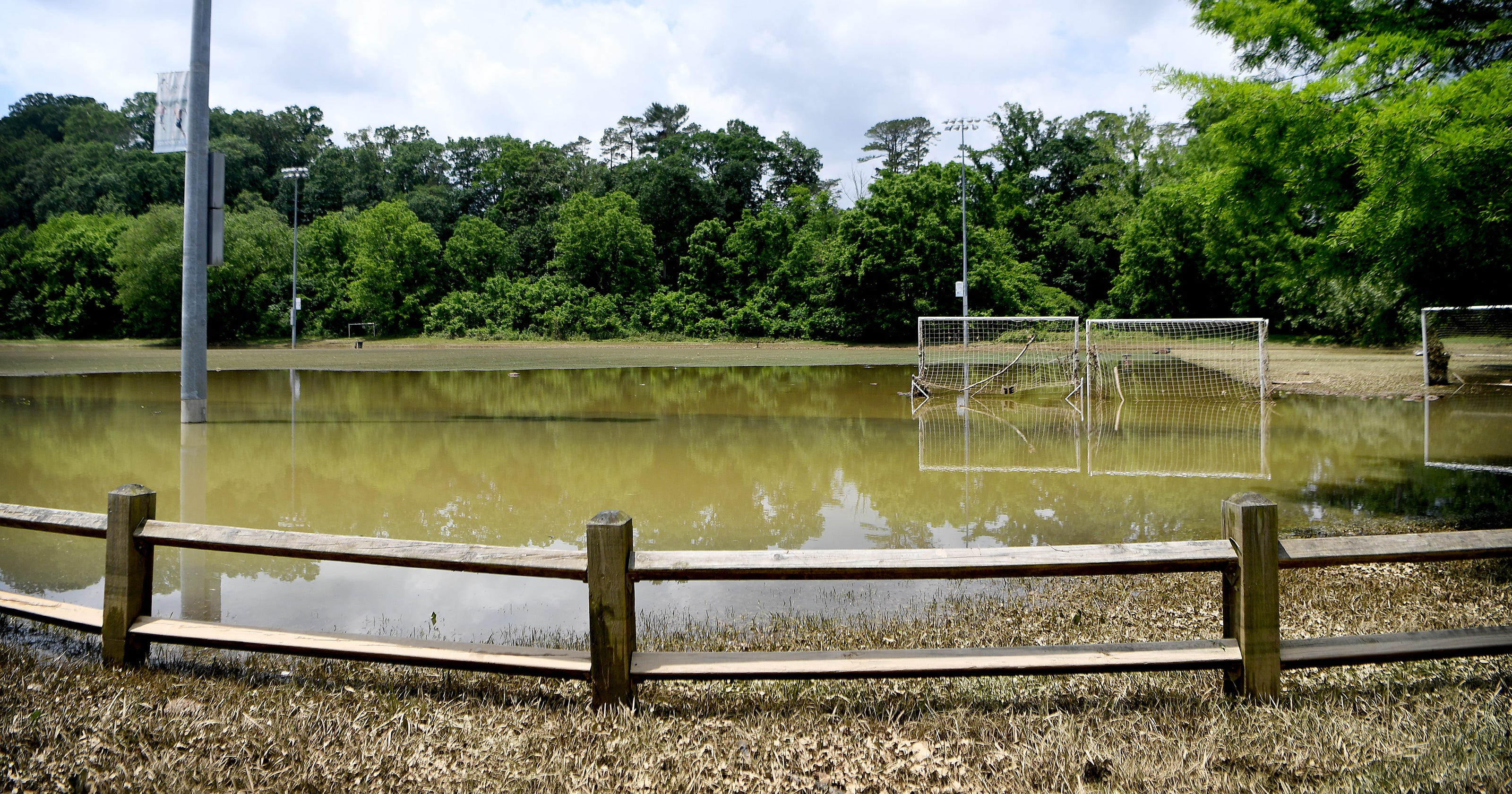 asheville jbl soccer complex covered by water remnants of alberto