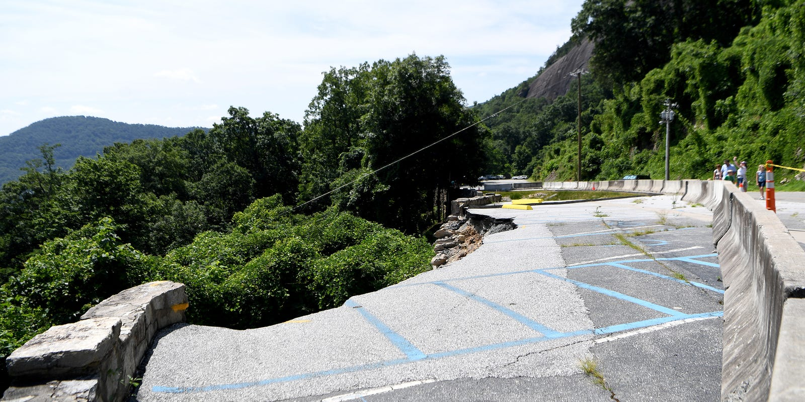 Chimney Rock State Park closed to cars while work underway to fix collapsed retaining wall
