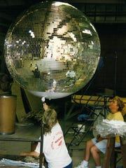 Yolanda Baker (left) and Nora Davis (right) work on