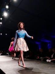 Mini me Noelle on the runway at Fashion Week 2016