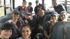 Nutley heading home on team bus after a win on opening day.