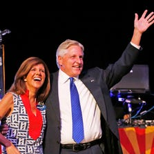"Campaign officials for Democratic candidate Fred DuVal (here with his wife, Jennifer) say the gubernatorial race against Republican Doug Ducey will not be determined by ""dark money."""