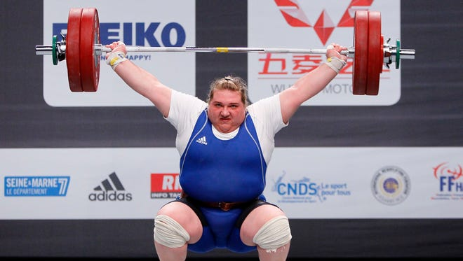 Olha Korobka from Ukraine was stripped of a silver medal.