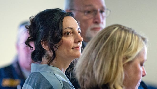 Jessica Smith listens during her sentencing Thursday, Aug. 25, 2016, in Clatsop County Court in Astoria.