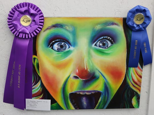 "This figurative oil painting by Samantha Greenhill, of Woodmore High School, won ""Best in Show"" at the Five-County Invitational Art Show."