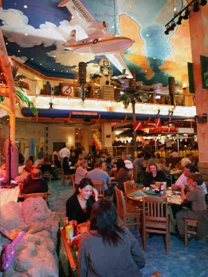 Diners take in the atmosphere at Margaritaville in the Westgate City Center Wednesday, Nov. 28, 2007 in Glendale.