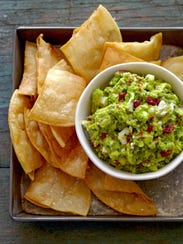 Goat cheese adds richness to this guacamole.