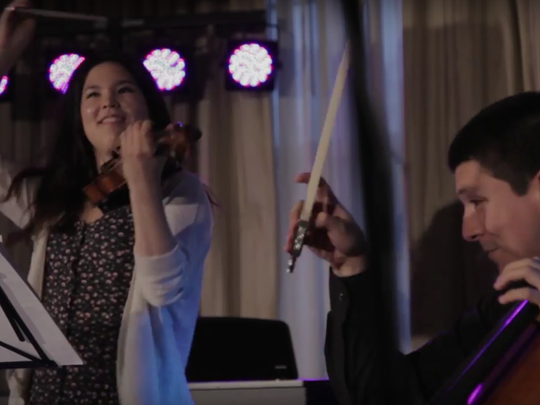 Violinist Rachell Wong and cellist Nicholas Mariscal