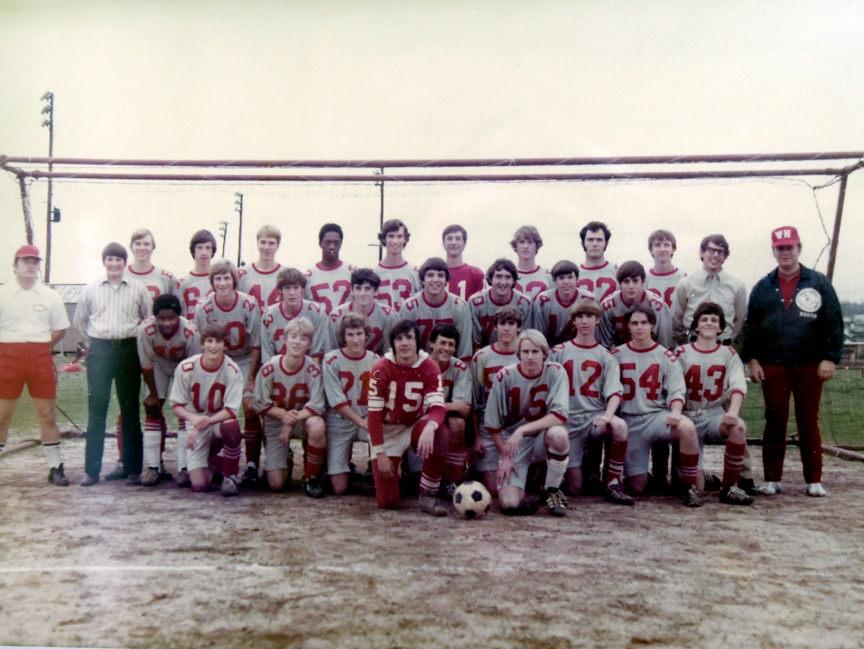 1974 Wade Hampton soccer state championship team.