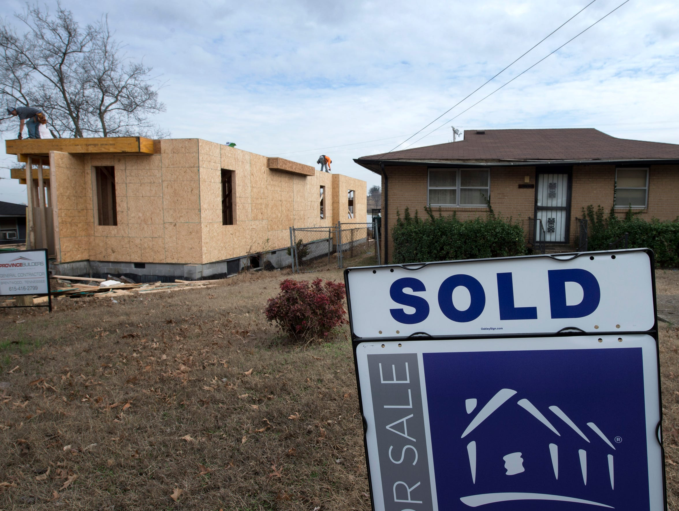 New houses go up along Ninth Avenue in a neighborhood
