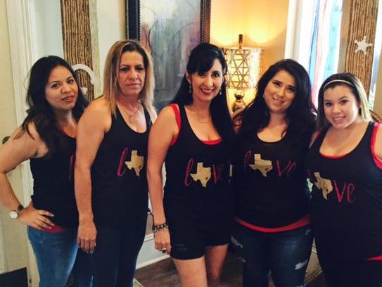 Erika Moreno, left to right, Jacqueline Garcia, Christine