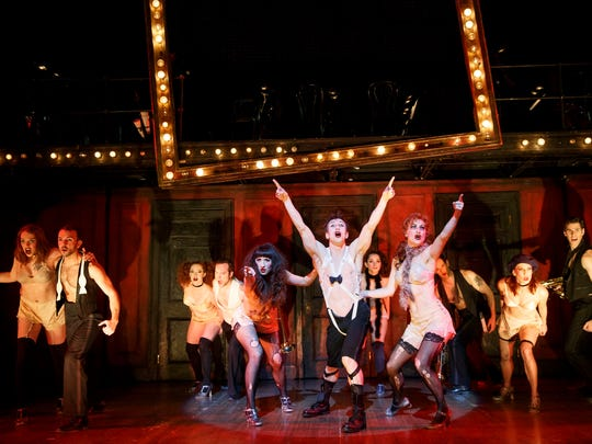 """Jon Peterson is the Emcee in the Roundabout Theatre Group's production of """"Cabaret."""""""