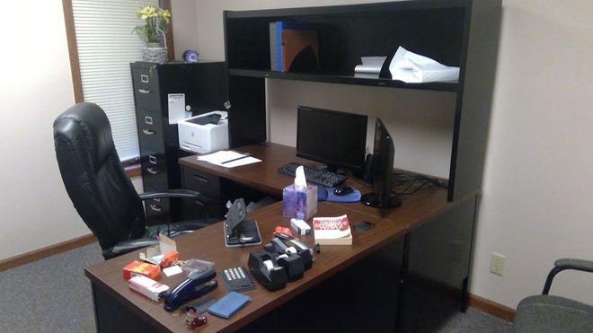 Desks and computers are among thousands of items to be offered at a liquidation sale Sunday at the former Midstate College, 411 W. Northmoor Road.