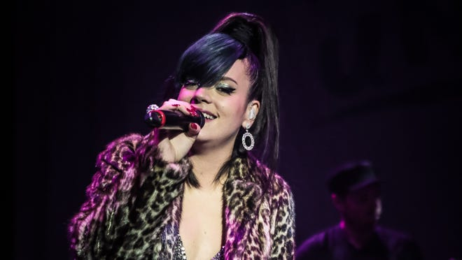 Lily Allen performs in London on Dec. 19.