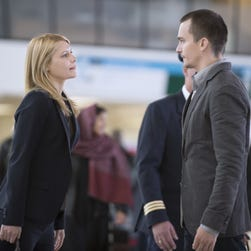 Claire Danes, left, and Rupert Friend star in Showtime's 'Homeland.'