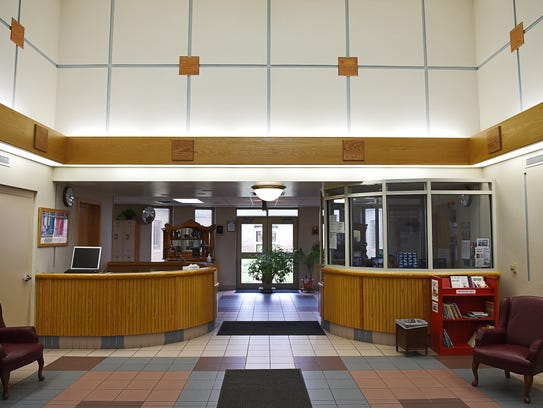 The visitor's entryway at the South Dakota Human Services