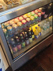 Open Face has an eclectic choice of beverages in the cooler.