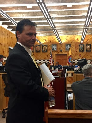 Principal Chief of the Eastern Band of Cherokee Indians Patrick Lambert in the hearing room where his impeachment hearing has been ongoing since Monday. Lambert testified Wednesday.