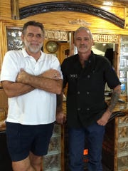 Bryan Pieper, left, owns Crab Trap Cafe. The restaurant is run by chef-manager Eric Kleinz.