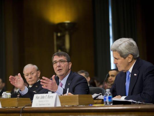 John Kerry, Ash Carter, Martin Dempsey